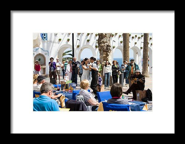 Dance Framed Print featuring the photograph Vacations In Nerja On Costa Del Sol by Artur Bogacki