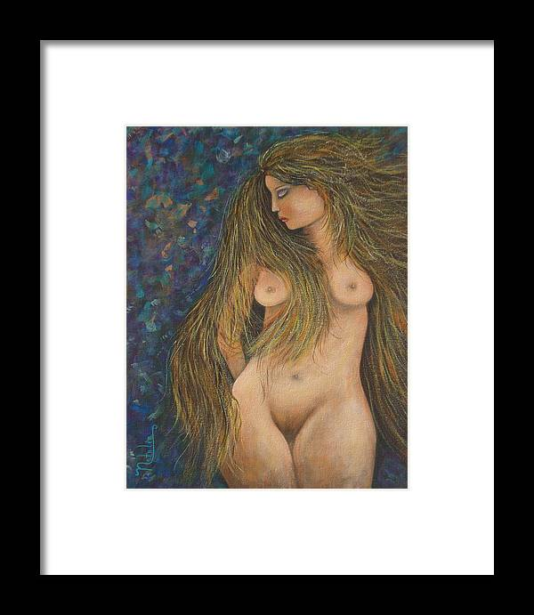 Woman Framed Print featuring the painting Valencina by Natalie Holland