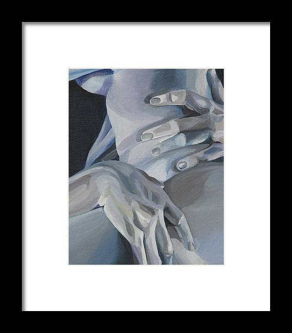 Figurative Work Framed Print featuring the painting Valentine Detail by Julie Orsini Shakher