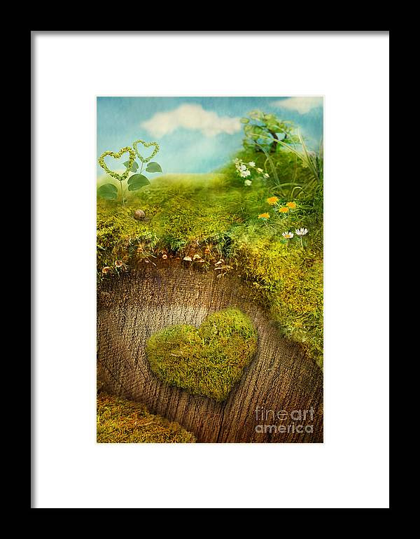 Valentine Framed Print featuring the digital art Valentine's Day Card by Mythja Photography