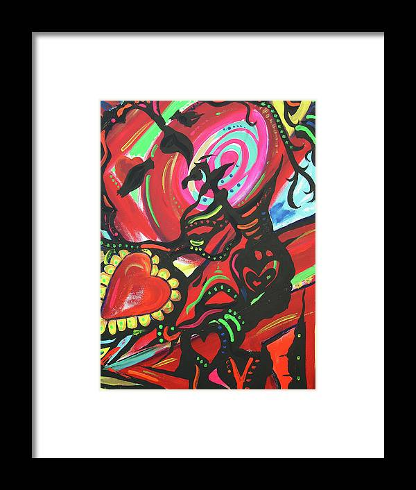 Valentine's Day Framed Print featuring the painting Valentine's Day by Lorinda Fore