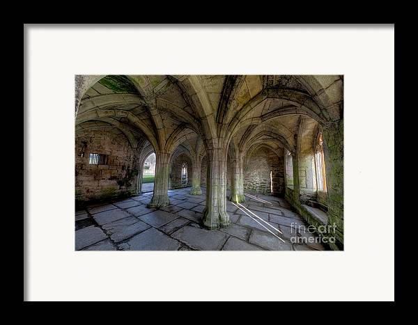 Abbey Framed Print featuring the photograph Valle Crucis Chapter House by Adrian Evans