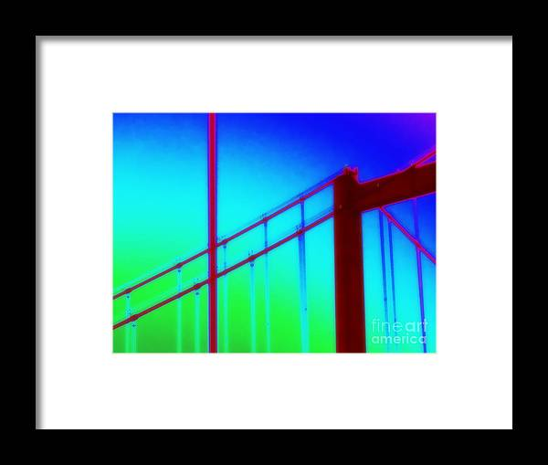 Bridge Framed Print featuring the photograph Vallejo Bridge I by A K Dayton