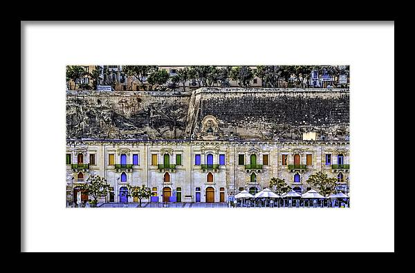 Ancient Framed Print featuring the photograph Valletta by Maria Coulson