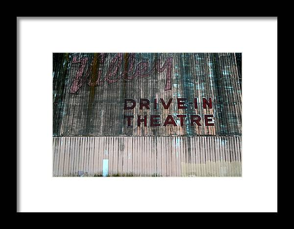 Drive-in Theatre Framed Print featuring the photograph Valley Drive-in Theatre by Marc Levine