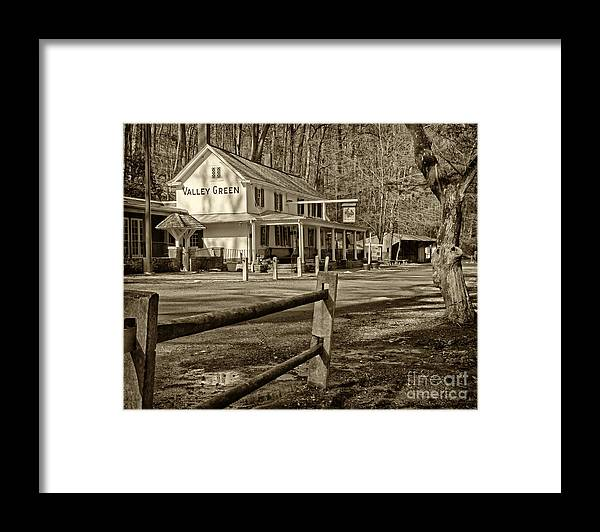 Valley Green Inn Framed Print featuring the photograph Valley Green Inn 2 by Jack Paolini