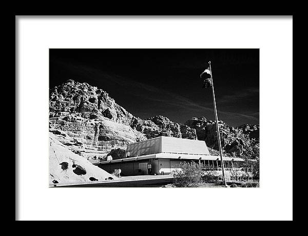 Valley Framed Print featuring the photograph Valley Of Fire State Park Visitors Center Nevada Usa by Joe Fox