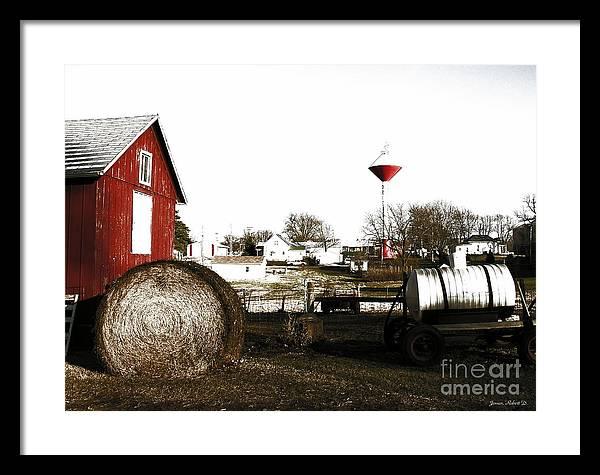 Hometown Framed Print featuring the digital art Values by Robert Jensen