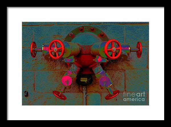 Valves Framed Print featuring the photograph Valves by Brent Boutin