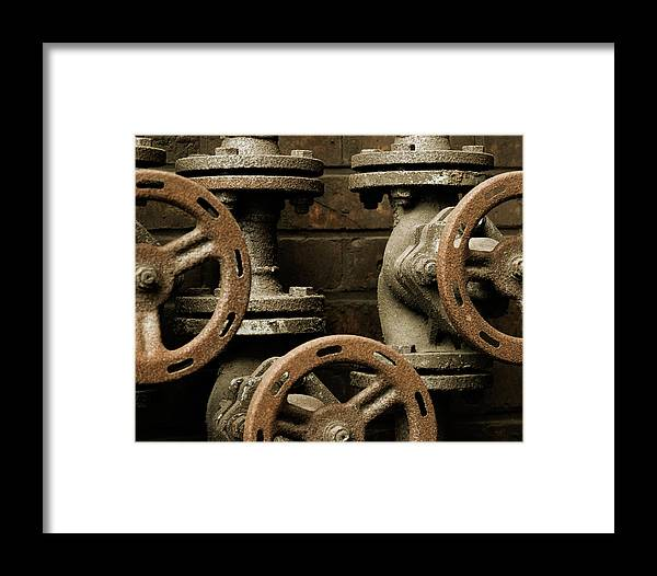 Art Framed Print featuring the photograph Valves by Marinus Ortelee