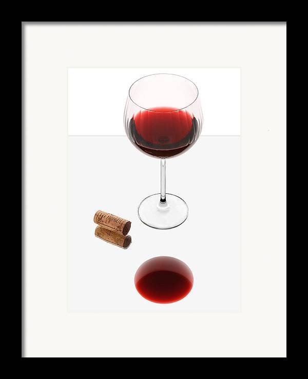 Red Framed Print featuring the photograph Vampire Wine Glass by Dennis James