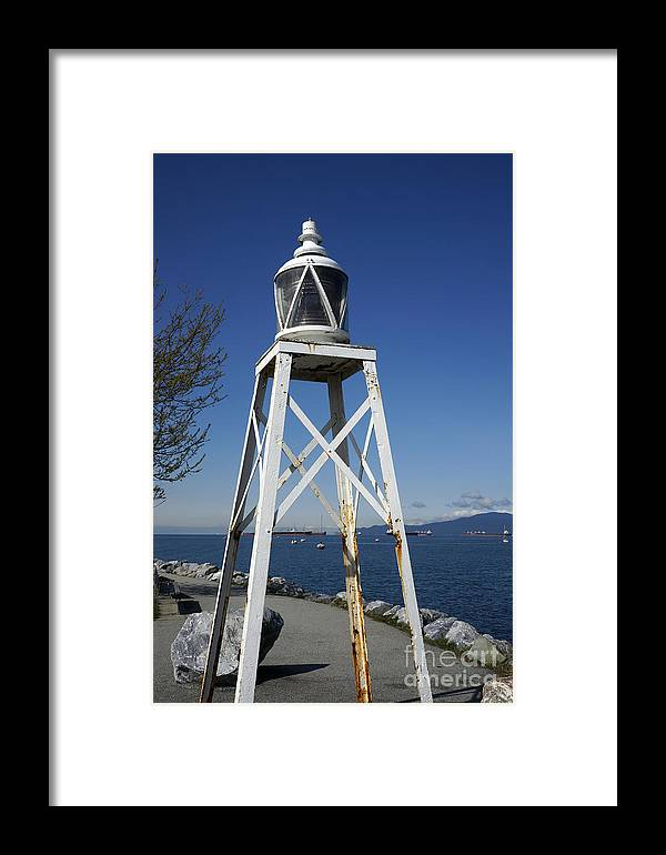 Vancouver Framed Print featuring the photograph Vancouver Lighthouse by John Mitchell