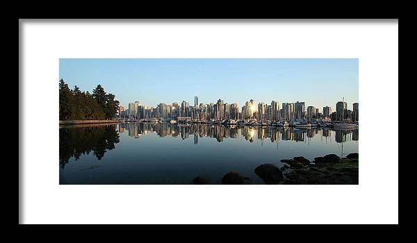 Vancouver Framed Print featuring the photograph Vancouver Reflected by Dan Breckwoldt