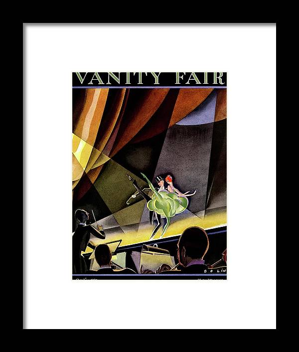 Illustration Framed Print featuring the photograph Vanity Fair Cover Featuring Two Performers by William Bolin