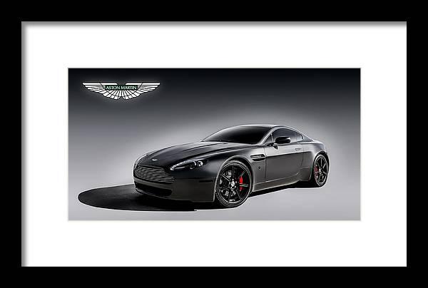 Aston Martin Framed Print featuring the digital art Vantage V12 by Douglas Pittman