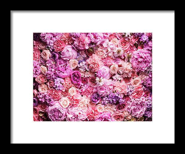 Tranquility Framed Print featuring the photograph Various Cut Flowers, Detail by Jonathan Knowles
