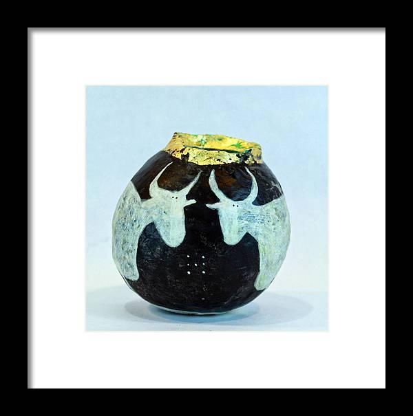 Vase Framed Print featuring the mixed media Vasa Taurus No 2 by Mark M Mellon
