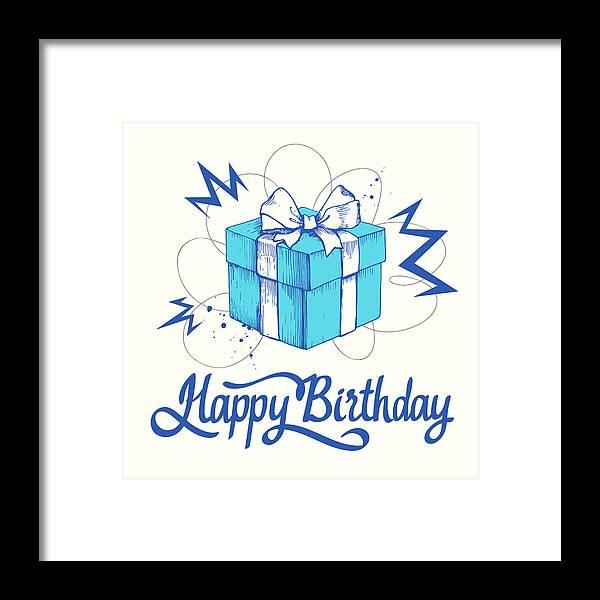 Artists Description Vector Holiday Illustration Birthday Present