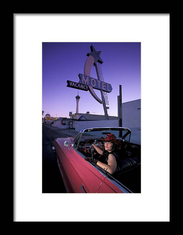 Motel Framed Print featuring the photograph Vegas by Christian Heeb