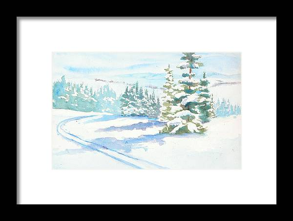 Framed Print featuring the painting Veiw From Mt. Werner by Mary Levingston