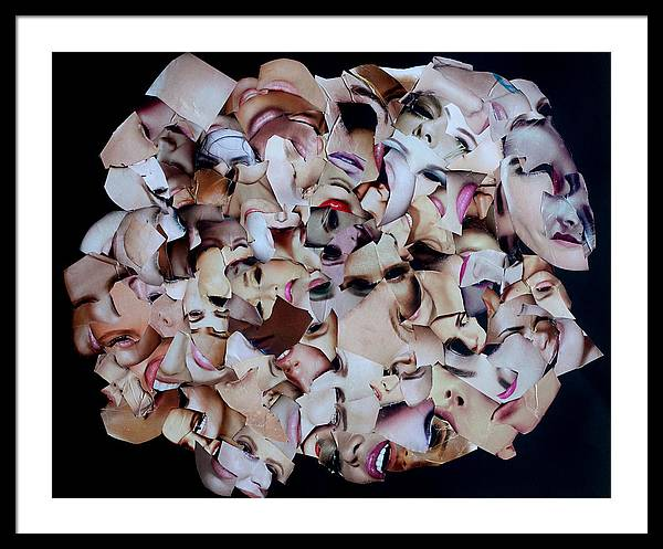 Collage Framed Print featuring the mixed media Velcro Bismol 3 by Arvo Zylo