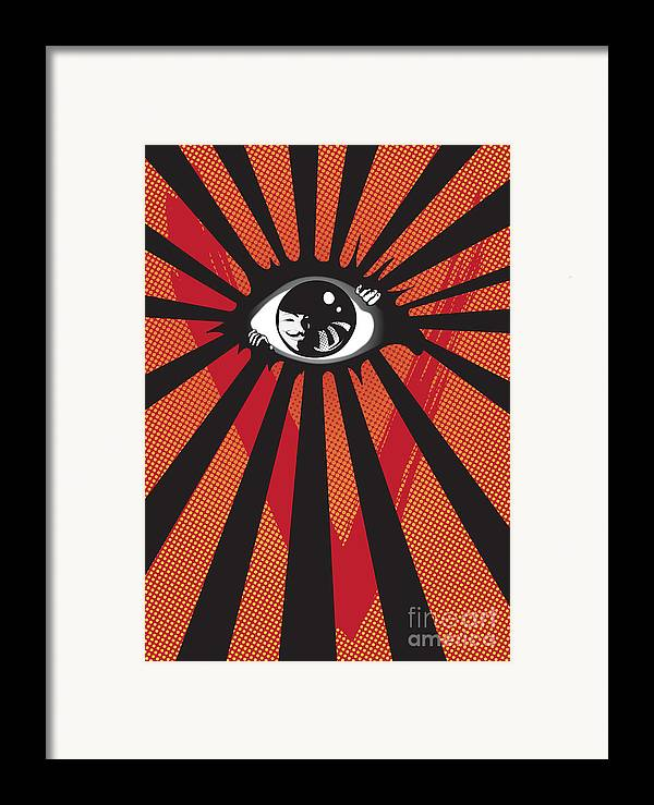 Eyes Framed Print featuring the digital art Vendetta2 Eyeball by Sassan Filsoof