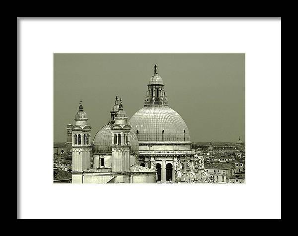 Santa Maria Della Salute Framed Print featuring the photograph Venetian Basilica Salute by Julie Palencia