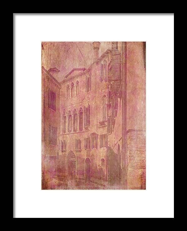 Venice Framed Print featuring the digital art Venetian Rose Water by Sarah Vernon