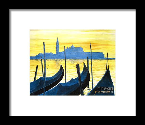 Venice Framed Print featuring the painting Venezia Venice Italy by Jerome Stumphauzer