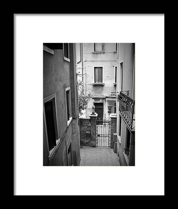 Venice Framed Print featuring the photograph Venice Alley by Todd Hartzo