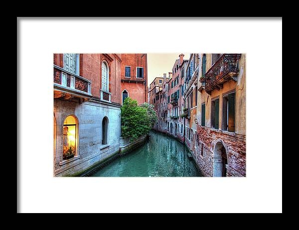 Tranquility Framed Print featuring the photograph Venice Canals by Emad Aljumah