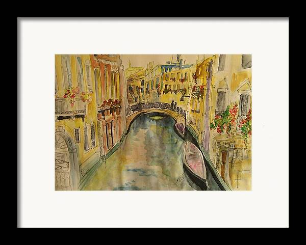 Venice Framed Print featuring the painting Venice I. by Paula Steffensen