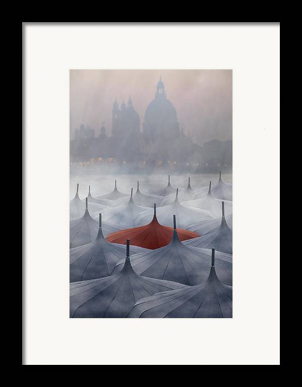 Surreal Framed Print featuring the photograph Venice In Rain by Joana Kruse