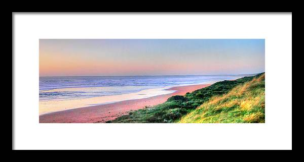Seascape Framed Print featuring the painting Venus Bay by Glen Johnson