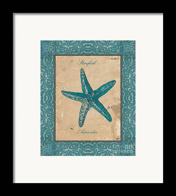 Coastal Framed Print featuring the painting Verde Mare 1 by Debbie DeWitt
