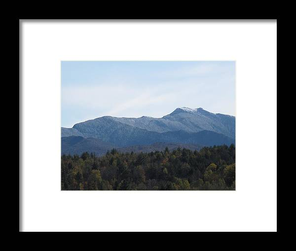 Mountains Framed Print featuring the photograph Vermont Mountains by Barbara McDevitt