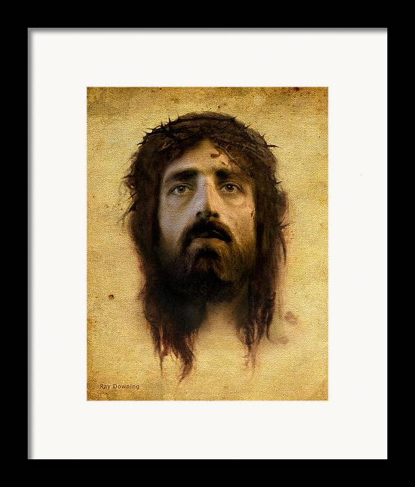 Jesus Framed Print featuring the digital art Veronica's Veil by Ray Downing