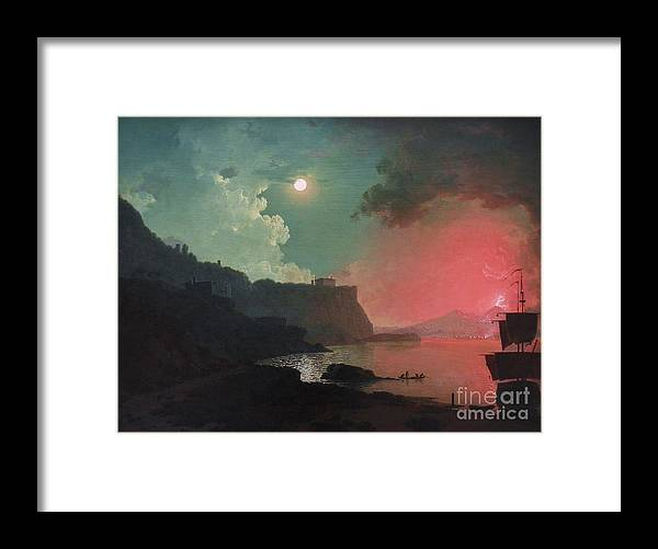 Pd: Reproduction Framed Print featuring the painting Vesuvius From Posillipo by Pg Reproductions