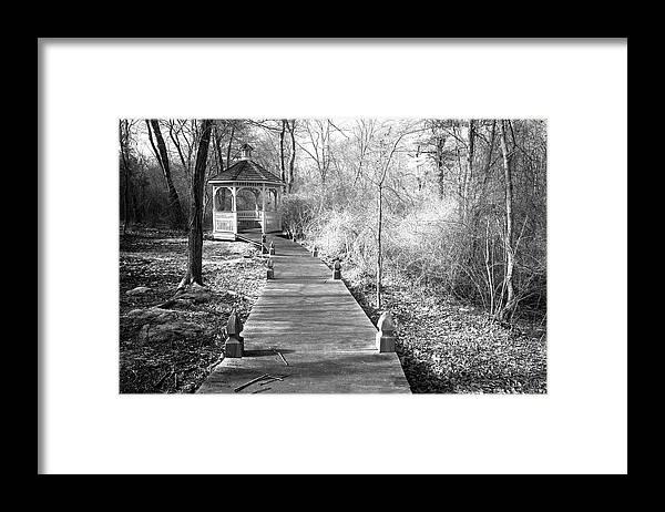Marshfield Framed Print featuring the photograph Veterens Gazebo by David DeCenzo