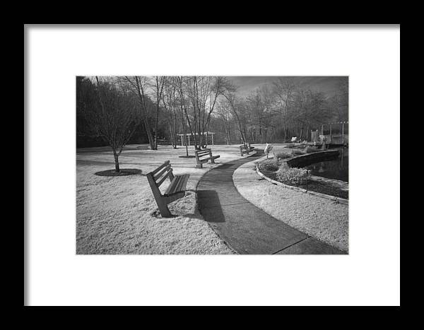 Marshfield Framed Print featuring the photograph Veterens Walk by David DeCenzo