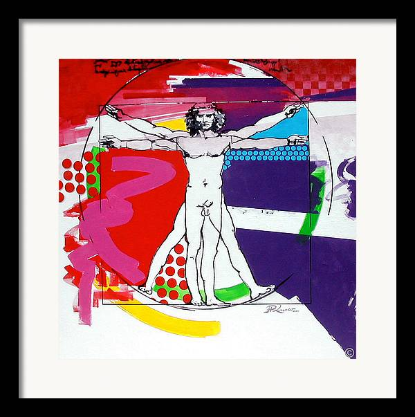 Classic Framed Print featuring the painting Vetruvian by Jean Pierre Rousselet