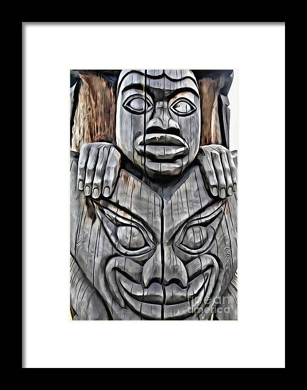 Totem Pole Framed Print featuring the photograph V.i. 0029 by Charles Cunningham