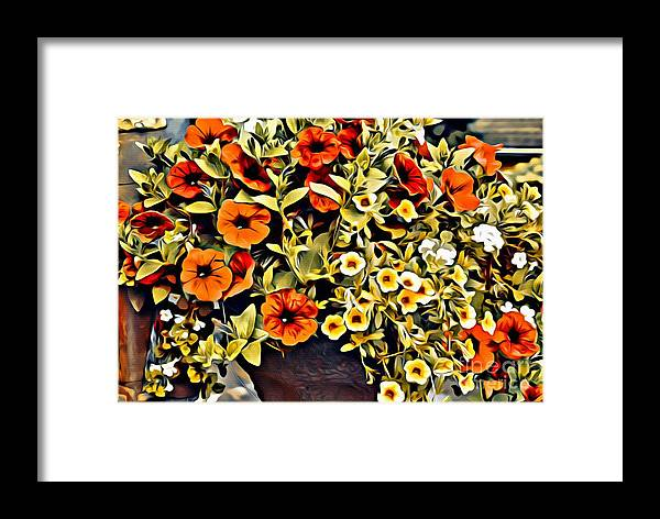 Flowers Framed Print featuring the photograph V.i. 0064 by Charles Cunningham