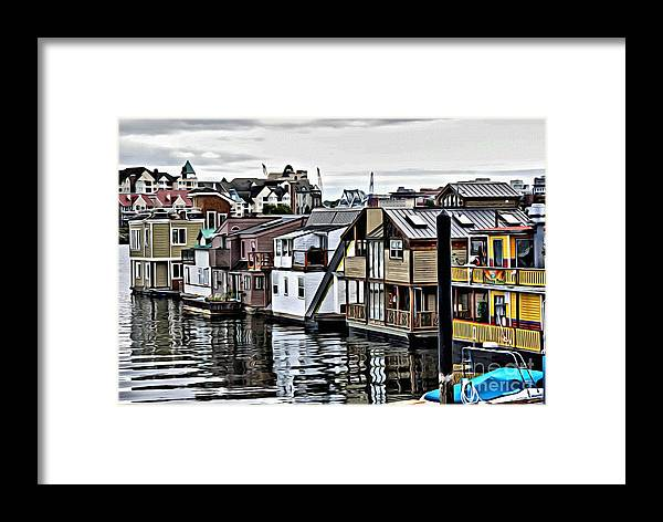 House Boats Framed Print featuring the photograph V.i. 0150 by Charles Cunningham