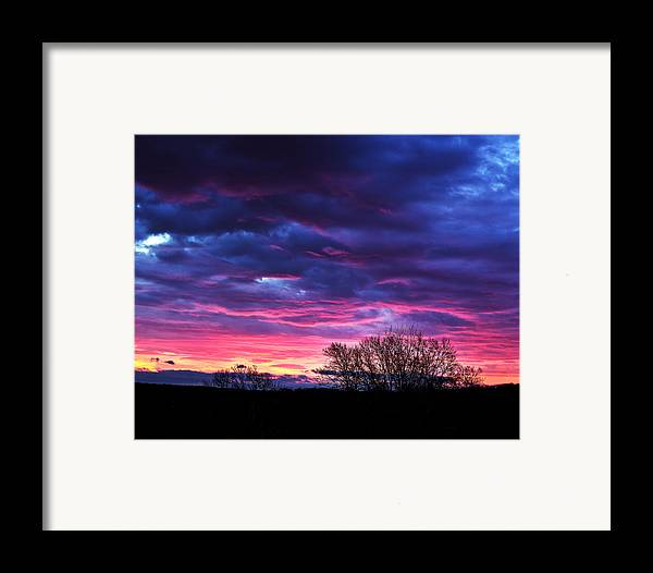 Tim Buisman Framed Print featuring the photograph Vibrant Sunrise by Tim Buisman