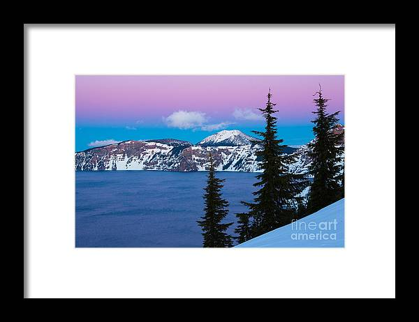 America Framed Print featuring the photograph Vibrant Winter Sky by Inge Johnsson