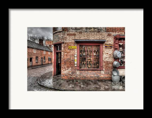 Architecture Framed Print featuring the photograph Victorian Corner Shop by Adrian Evans