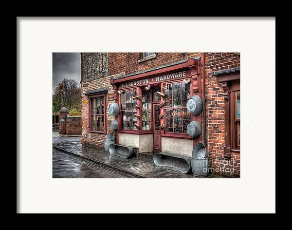Architecture Framed Print featuring the photograph Victorian Hardware Store by Adrian Evans