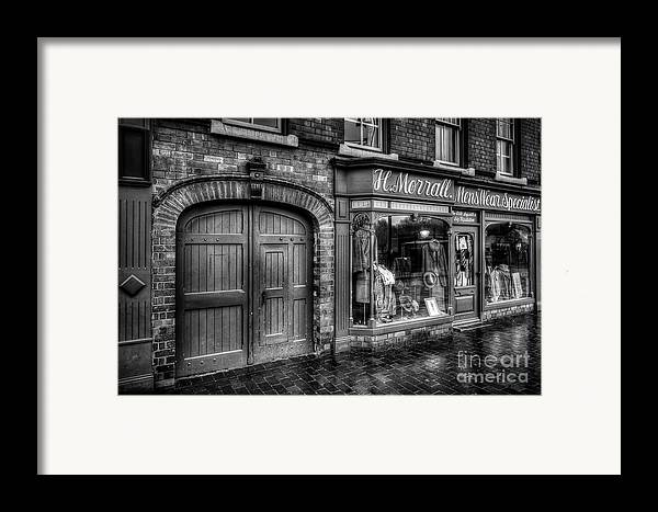 Alley Framed Print featuring the photograph Victorian Menswear by Adrian Evans