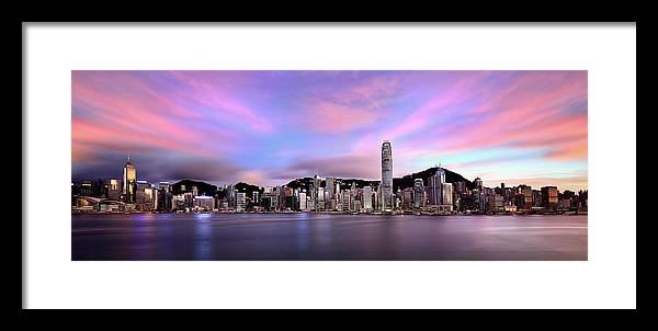 Tranquility Framed Print featuring the photograph Victoric Harbour, Hong Kong, 2013 by Joe Chen Photography